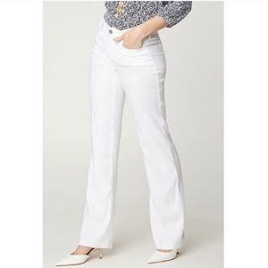 NWT NYDJ Trouser Pants in Stretch Linen White